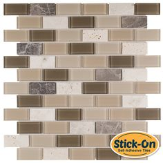 Made Of Real Gl And Stone Not Vinyl The L Stick Rome Mosaic Tile Is A Diy Do It Yourself Product That Combines Tiles