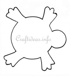 Free Craft Patterns and Templates - Template for a Turtle Body Flower Template, Body Template, Turtle Outline, Turtle Classroom, Summer Daycare, Turtle Quilt, Animal Cutouts, Baby Gifts To Make, March Themes
