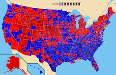 ARTICLE and MAPS - What once was red is now blue, and vice versa. How America's political landscape flipped