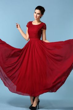 Lace-Chiffon-Long-Sexy-Formal-Party-Evening-Cocktail-Dress-Bridesmaid-Prom-Gown