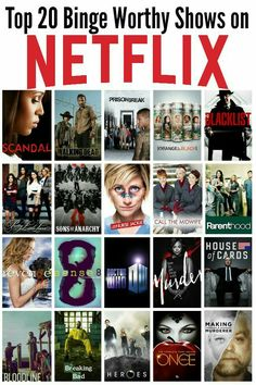 Top 20 Binge Worthy Shows on Netflix - Yıldız Fırsat Best Series On Netflix, Netflix Movies To Watch, Netflix Hacks, Netflix Dramas, Movie To Watch List, Good Movies On Netflix, Netflix Tv Shows, Tv Series To Watch, Good Movies To Watch