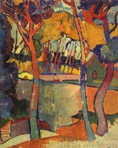 Three Trees, L'Estaque, Andre Derain, 1906, IMJ