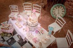 Tablescape from anAlice in Wonderland Tea Party via Kara's Party Ideas | KarasPartyIdeas.com (13)