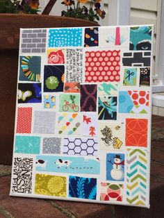 Ticker tape canvas from crazy mom quilts tutorial