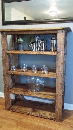 Custom Wooden Bookshelf  Bookcase by JonesRepurposed on Etsy