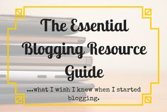 From learning how to start a blog to taking your blog to the next level, this resource page is essential for any aspiring blogger!