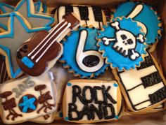 Rock band party cookies