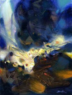 Le souffle qui libère la matière by Chu Te-Chun, 2006 A painter whose work has been exhibited at the Pinacothèque de Paris in 2013 . A revelation for me! #fine art, #contemporary art, #artishop.dk