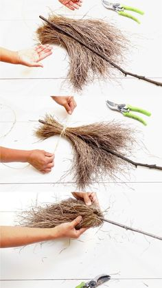 Magical & Free DIY Halloween Witches Broom Ways!}- broom DIY Free halloween magical Ways - Magical & Free DIY Halloween Witches Broom Ways!}- Magical & Free DIY Halloween Witches Broom Ways! Spooky Halloween, Halloween Crafts For Kids, Holidays Halloween, Halloween Makeup, Halloween Supplies, Kids Crafts, Cheap Halloween, Easy Crafts, Halloween Witch Wreath