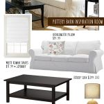 Pottery Barn White Couch & Jute Rug - Living Room on a Budget | Money Saving Sisters