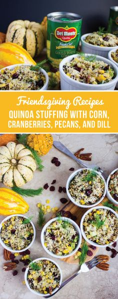 Fool-proof and flavorful—what could be better than this recipe for Quinoa Stuffing with Corn, Cranberries, Pecans, and Dill? Made with Del Monte® Whole Kernel Sweet Gold & White Corn, seasonal herbs & spices, and healthy alternatives, this is one Friendsgiving side dish that is sure to complete your fall holiday menu. And by picking up all your ingredients at Walmart, tackling this tasty food celebration has never been easier!