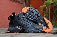 New Arrival NIke Huarache X Acronym City MID Leather Winter Men s Running  Sports Shoes Carbon   b2c49b52d