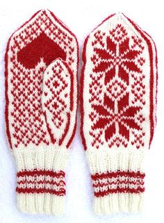 Fredsvotten - Peace from Selbu Husflid, Norway. Originally made to the theater play a family's struggle during the world war. Idea and director Elisabeth Matheson. Pattern and yarn available at link. Knitted Mittens Pattern, Knit Mittens, Knitting Socks, Knitting Stitches, Baby Knitting, Knitted Hats, Knitting Patterns, Norwegian Knitting, Fingerless Mittens