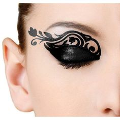 Eye Temporary Tattoo Makeup Tattoo; Transfer Eye Tattoo, Eyelids Temporary Tattoo, Black Lace Tattoo, Party Prom Festival Halloween, Flower