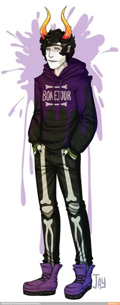 I got a Kurloz request a while back so I decided to make a lil outfit design for him. Homestuck Characters, Fictional Characters, Joker, Fandoms, Fan Art, Cute, Bro, Prince, Gloves