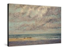 Marine - Les Equilleurs Giclee Print by Gustave Courbet at Art.com