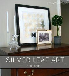 Crazy Wonderful: silver leaf art - tutorial