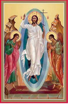 Religious Images, Religious Icons, Religious Art, Orthodox Catholic, Catholic Art, Christ Is Risen, Christ The King, Greek Icons, Pictures Of Christ