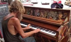 Homeless Man Sat Down At A Piano. When He Started To Play, It Brought Tears To My Eyes!