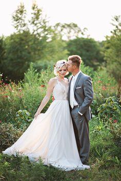 garden wedding photography idea