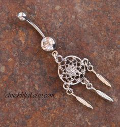 Dreamcatcher Indian Style DeSIGNeR Belly Button Ring by chuckhljal, $22.00