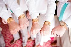 Unique Groomsmens Gifts - Engraved #Treehut Wooden watches can be personalized with a message of your choice!