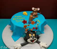 Tom & Jerry Cake from Honey's Cafe and Bakery, Medfield, Ma