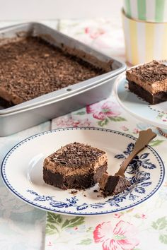 Brownie con mousse de chocolate Best Brownie Recipe, Brownie Recipes, Cake Recipes, Blondie Brownies, Best Brownies, Choco Chocolate, Chocolate Brownies, Brownie Cupcakes, Cupcake Cakes