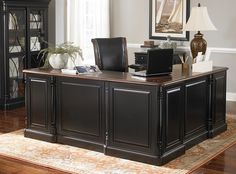 Superbe Office Furniture, Westbury Executive Desk, Office Furniture | Havertys  Furniture