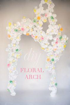 DIY: paper flower arch