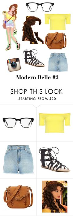 """Modern Belle #2"" by spikequeen ❤ liked on Polyvore featuring GlassesUSA and modern"