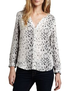 Purine Leopard-Print Blouse by Joie at Neiman Marcus.