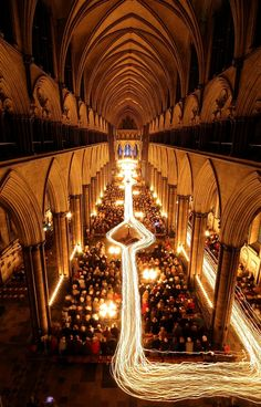 Salisbury Cathedral hosts 'Darkness to Light' Advent procession