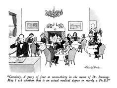 Ph.D joke (New Yorker)