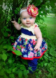 Baby Sabrina's Ruffled Top and Dress   Sewing Pattern   YouCanMakeThis.com