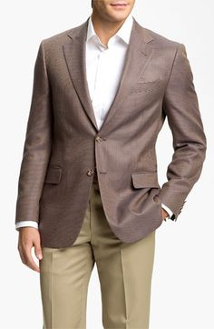 LOVING prints for men's sport coats...Joseph Abboud Houndstooth Sportcoat available at #Nordstrom