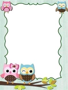 Boarder Designs, Page Borders Design, Owl Clip Art, Butterfly Clip Art, Cute Owl Cartoon, Disney Frames, Kindergarten Coloring Pages, Owl Theme Classroom, Free Printable Stationery