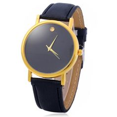 Simple Men Quartz Watch Leather Watchband Wristwatch #>=#>=#>=#>=#> Click on the pin to check out discount price, color, size, shipping, etc. Save and like it!