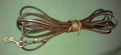 Bloodhound leather leash brown colour.