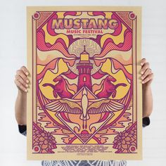 Screen printed poster I created for a music festival earlier this month - Album on Imgur