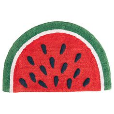 Watermelon Bath Mat Item Code 57561110 Description With its fluffy, soft and colorful design, this cotton bath mat will be sure to make a statement in your bathroom. Soft and durable, this bath mat is completely machine washable. The extra large size means you can keep your floor dry and your feet warm on the soft cotton. Product Features Measures: 50cm x 80cm Materials and Composition Cotton Care Instructions Cold gentle machine wash Do not bleach or tumble dry Do not iron Do not dry clean