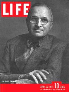 Life Magazine Cover Copyright 1945 President Truman - www.MadMenArt.com | Life…
