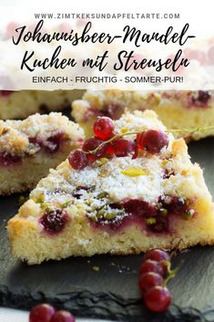 Johannisbeer-Mandel-Kuchen mit Streuseln - Torten , Johannisbeer-Mandel-Kuchen mit Streuseln Delicious and fruity, fast and easy to bake yourself: my currant almond cake with sprinkles. Tastes like summ. Summer Cakes, Summer Desserts, Summer Recipes, Delicious Cake Recipes, Snack Recipes, Dessert Recipes, Keto Snacks, Eggplant Dishes, Almond Cakes