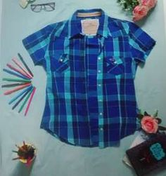 Camisa Hollister Xadrez