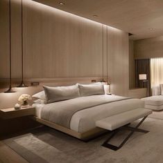 Discover some real advantages of having a modern bedroom with minimalist design and contemporary furniture. 3 Main Benefits of Having a Modern Bedroom Hotel Room Design, Luxury Bedroom Design, Bedroom Bed Design, Modern Interior Design, Bedroom Designs, Master Room Design, Luxury Decor, Master Bedroom Interior, Home Decor Bedroom