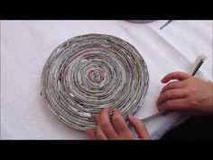 Come fare facilmente una ciotola con della comune carta di giornale - YouTube