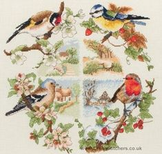 Birds and Seasons Cross Stitch Kit from Anchor