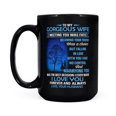 Perfect Gifts To My Husband Poster | Family Love Gifts Great Gifts For Wife, Love Gifts, Black Coffee Mug, I Love You Forever, Mom Birthday Gift, Message Card, Family Love, Family Gifts, To My Daughter