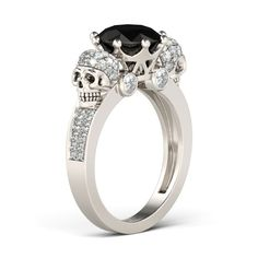 He hauls at a long rope who expects another's death. - Old Italian proverb from A polyglot of foreign proverbs (Henry G Bohn - 1857). Image: Two Skull Design Black Diamond Rhodium Plated Sterling Silver Skull Ring