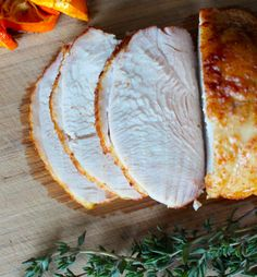 Skip the slimy deli meat and make your own  Smoky Roast Turkey Breast     1 small tied turkey breast (1-1.5 pounds is perfect)  1 tablespoon smoky rub *  1 lemon or small orange, sliced    * Smoky Rub:  1 Tablespoon each paprika, sea salt, coconut palm sugar (feel free to skip the sugar if doing a sugar detox or Whole30)  1 teaspoon each cumin, corainder  1/2 teaspoon ground chipotle